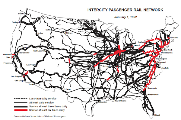 Obama Memo Redeem Yourself With Rail Gregorus - Map of us rail network